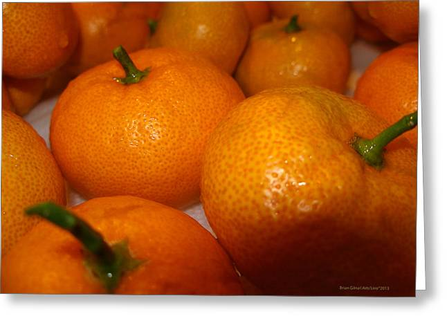 Tangerines 01 Greeting Card by Brian Gilna
