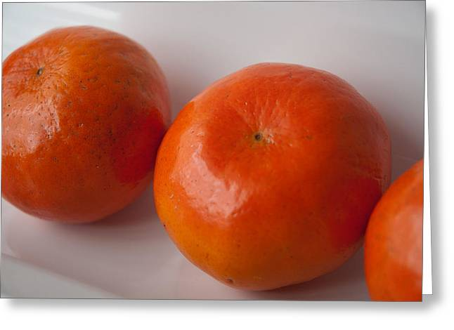 Tangerines3 Greeting Card by Lena Wilhite