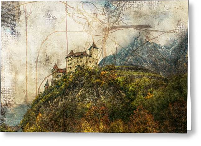Sarah Vernon Greeting Cards - Tangle Mountain Greeting Card by Sarah Vernon