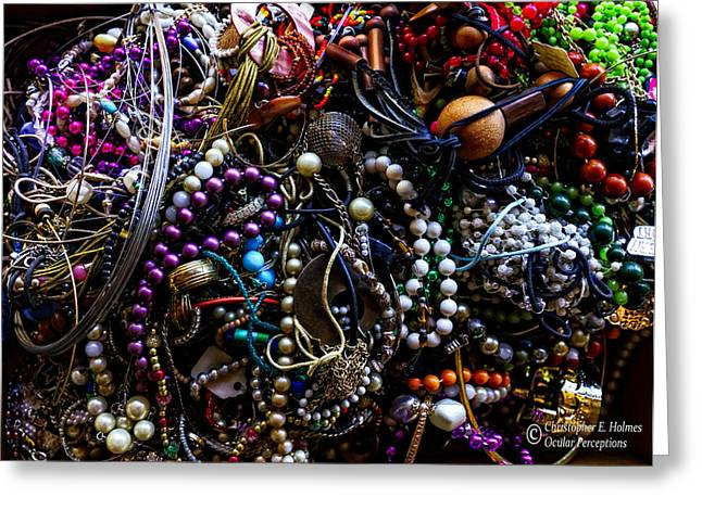 Tangled Baubles Greeting Card by Christopher Holmes