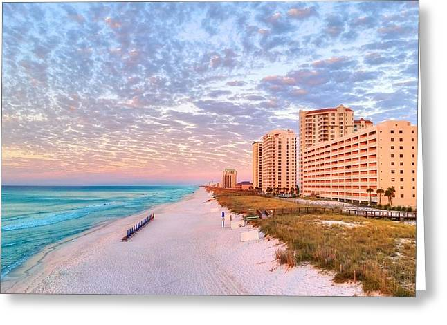 Florida Panhandle Greeting Cards - The Navarre Skyline Greeting Card by JC Findley