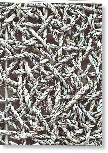 Strength Photographs Greeting Cards - Tangled rope Greeting Card by Tom Gowanlock