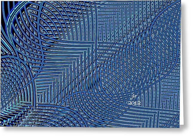 Tangled Up In Blue Greeting Cards - Tangled Up In Blue Greeting Card by Janet Russell