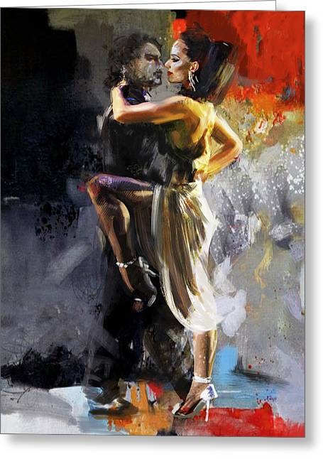 Tango - 3 Greeting Card by Mahnoor Shah