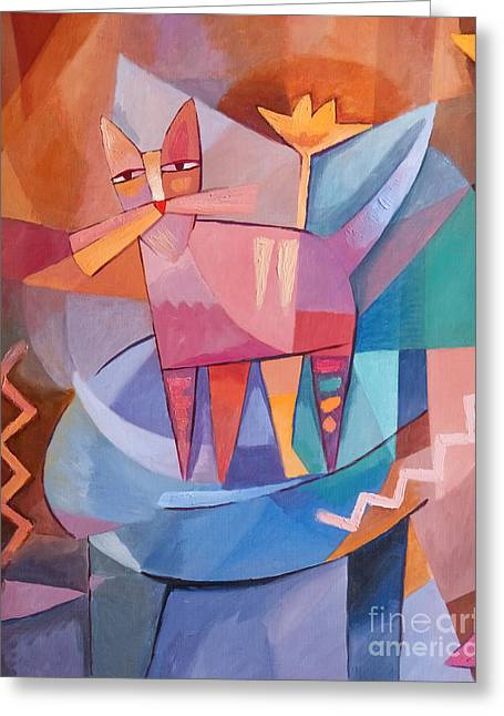 Cat Images Greeting Cards - Tango Cat Greeting Card by Lutz Baar