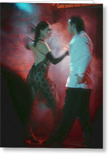 Steven Boone Greeting Cards - Tango Dancing Greeting Card by Steven Boone