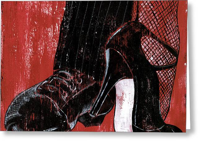 Foot Greeting Cards - Tango Greeting Card by Debbie DeWitt