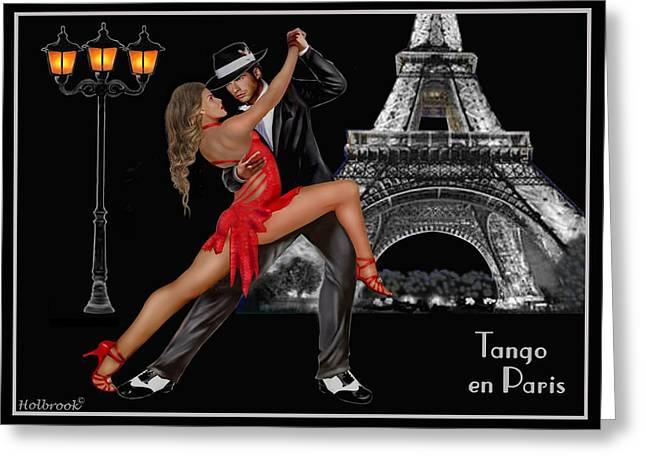 Award Digital Art Greeting Cards - Tango en Paris Greeting Card by Glenn Holbrook