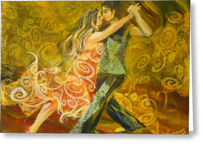 Tango Flow Greeting Card by Summer Celeste