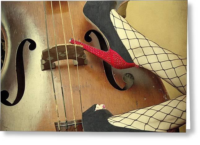 Tango For Strings Greeting Card by Evelina Kremsdorf