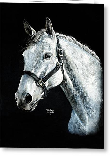 White Horse Pastels Greeting Cards - Tango Greeting Card by Heather Gessell