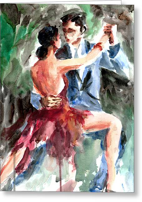 Moment Of Life Greeting Cards - Tango in the Night Greeting Card by Faruk Koksal