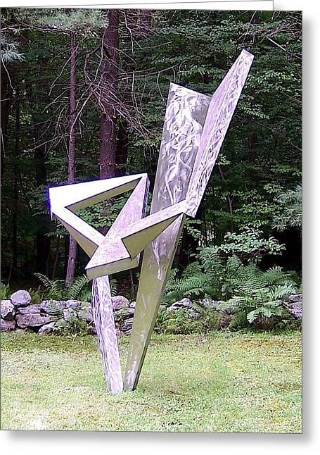 Abstract Movement Sculptures Greeting Cards - Tango Greeting Card by John Neumann