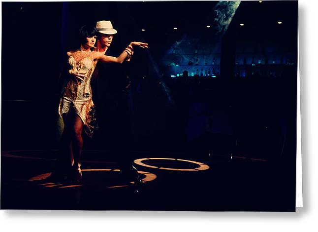Dance Class Greeting Cards - Tango Mystery Greeting Card by Jenny Rainbow