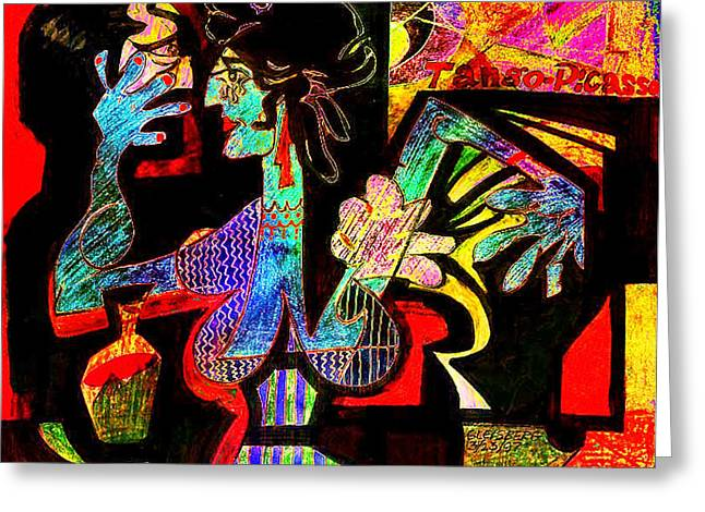 Esque Greeting Cards - Tango Picasso-II Greeting Card by Dean Gleisberg