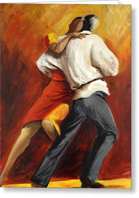 Tango Greeting Cards - Tango Greeting Card by Sheri  Chakamian