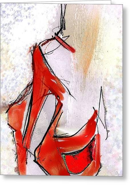 Tango - Tango Shoes Greeting Card by Carolyn Weltman