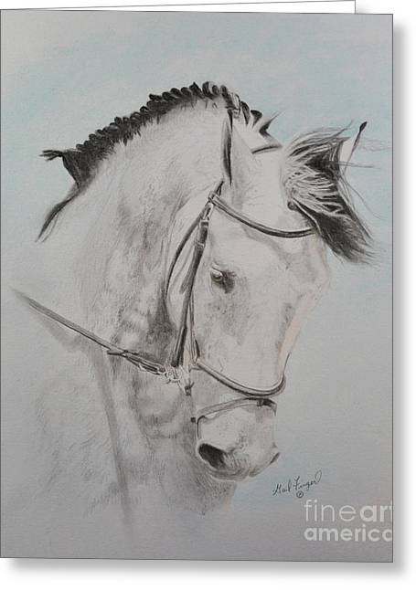 Dressage Pastels Greeting Cards - Tanion Greeting Card by Gail Finger
