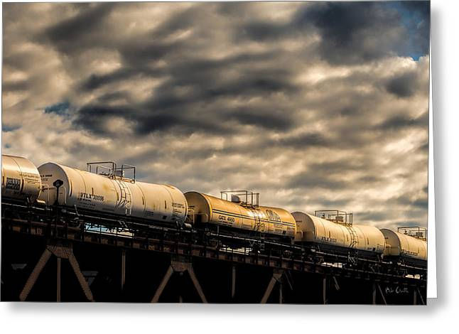 Tank Cars Greeting Card by Bob Orsillo
