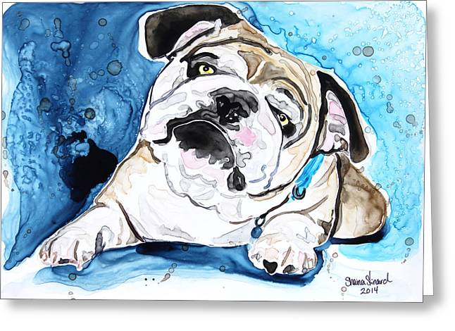 Yupo Paper Greeting Cards - Tank Greeting Card by Shaina Stinard