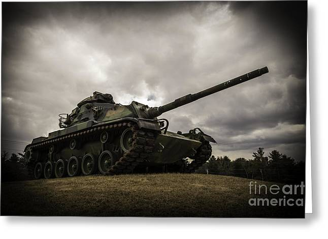 Cole Greeting Cards - Tank World War 2 Greeting Card by Glenn Gordon