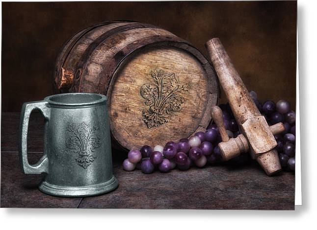 Tankard Of Drink Still Life Greeting Card by Tom Mc Nemar