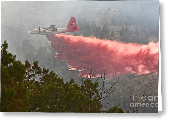 Greeting Card featuring the photograph Tanker 07 On Whoopup Fire by Bill Gabbert