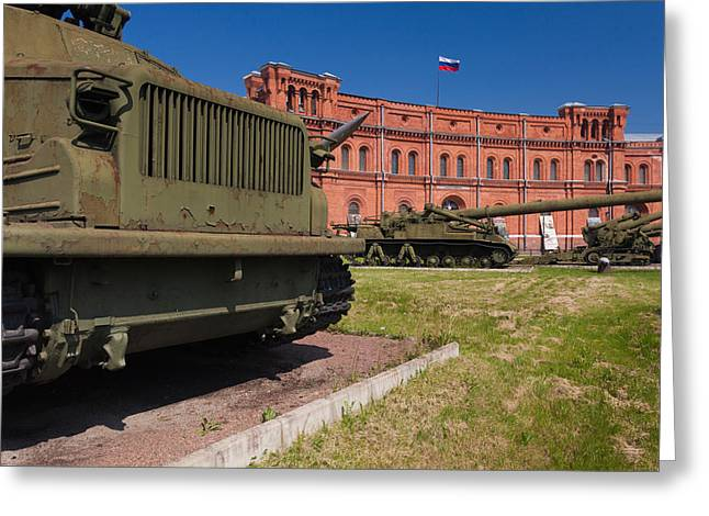 Tanks At Museum Of Artillery Greeting Card by Panoramic Images