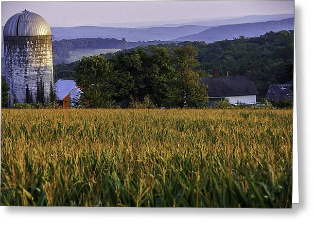 Preston Farm Greeting Cards - Tanners Farm - A Litchfield Hills scenic landscape Greeting Card by Thomas Schoeller