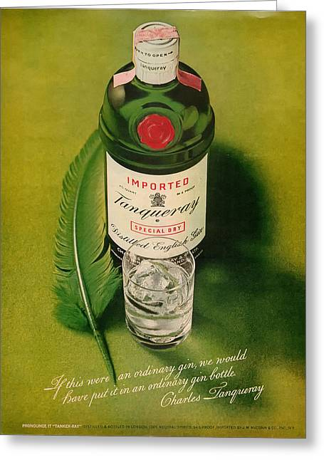 Lounge Digital Art Greeting Cards - Tanqueray Gin Greeting Card by Nomad Art And  Design