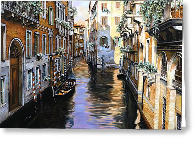 Tanta Luce A Venezia Greeting Card by Guido Borelli