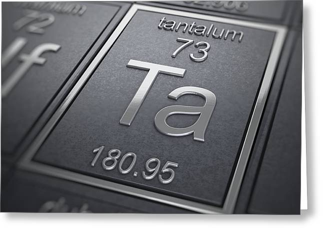 Tantalum Greeting Cards - Tantalum Chemical Element Greeting Card by Science Picture Co