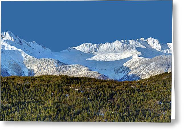 Scenic Drive Greeting Cards - Tantalus Mountain Range B.C Greeting Card by Pierre Leclerc Photography