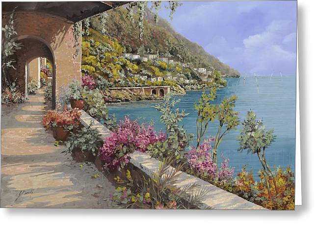 Clear Greeting Cards - Tanti Fiori Sulla Terrazza Greeting Card by Guido Borelli