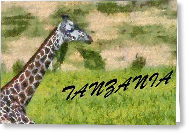 National Mixed Media Greeting Cards - Tanzania Poster Greeting Card by Dan Sproul