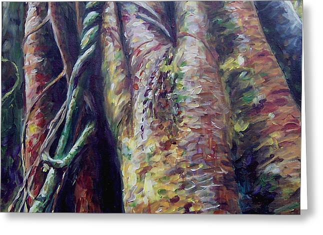 """""""jungle Vines"""" Greeting Cards - Tanzanian Trees Greeting Card by Susan Moore"""