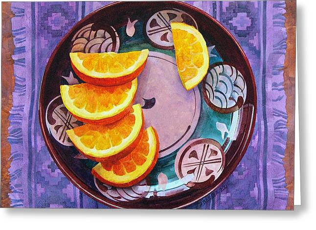 Placemat Greeting Cards - Tao of Orange Greeting Card by Dianne Bersea