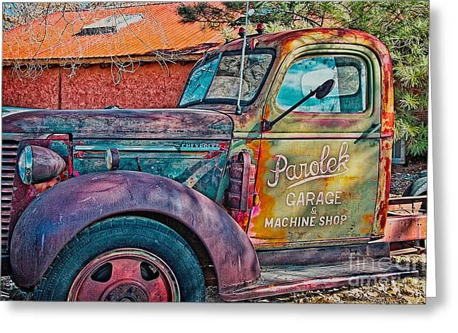 Taos Greeting Cards - Taos Chevy Greeting Card by Charles Muhle