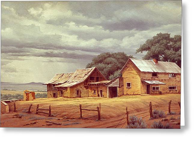 Taos Homestead Greeting Card by Paul Krapf
