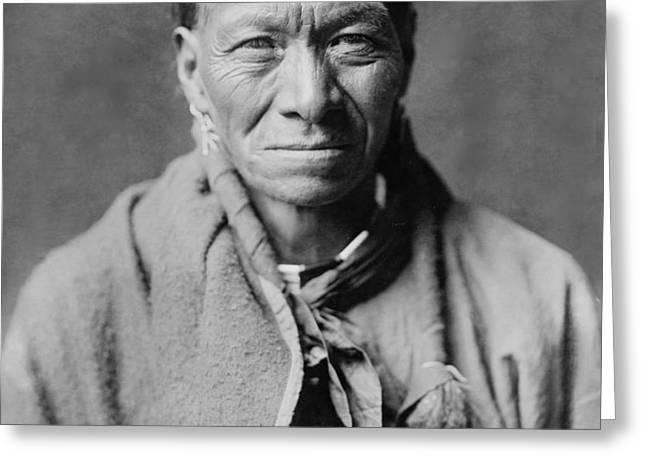 Taos Indian circa 1905 Greeting Card by Aged Pixel
