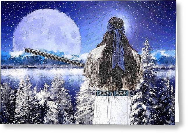 Taos Mountain Man Greeting Card by Roger D Hale