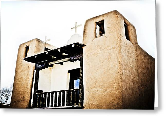Taos Greeting Cards - Taos Pueblo Church 3 Greeting Card by Marilyn Hunt