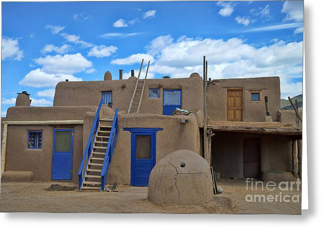 Us Destinations Greeting Cards - Taos Pueblo, New Mexico Greeting Card by Mark Newman