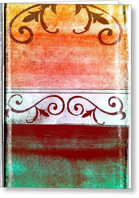Laura Carter Greeting Cards - Tapestry Abstract Art Painting Greeting Card by Laura  Carter