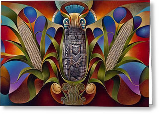 Tapestry Of Gods Greeting Card by Ricardo Chavez-Mendez