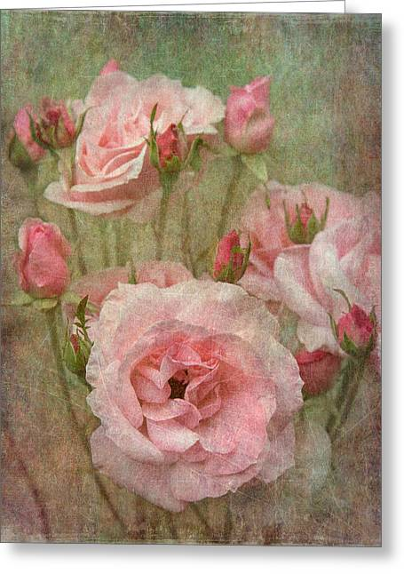 Enhanced Greeting Cards - Tapestry of Roses Greeting Card by Angie Vogel