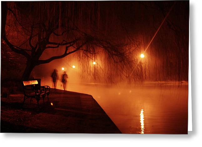 Nighttime Greeting Cards - Tapolca - Hungary Greeting Card by Wojciech Zwolinski