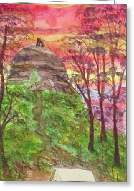 Tap Paintings Greeting Cards - Taps Greeting Card by Joyce Tucker