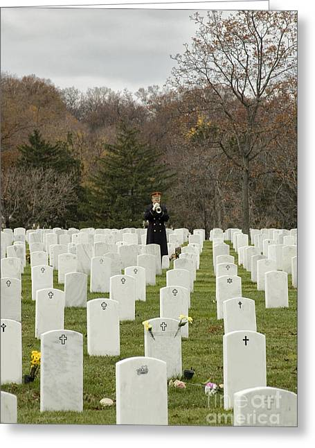 Headstones Greeting Cards - Taps Greeting Card by Terry Rowe