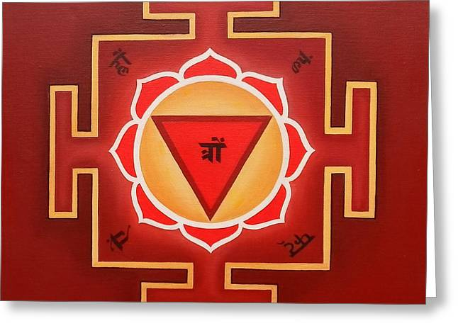 Sacred Drawings Greeting Cards - Tara Yantra by Piitaa  Greeting Card by Piitaa - Sacred Art